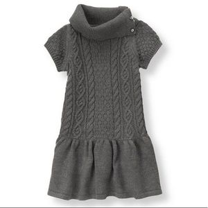 Janie and Jack gray cable knit dress